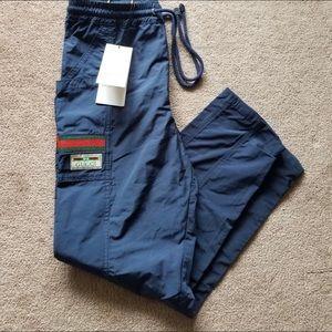 Gucci Web-stripe Cotton-canvas Track Pants